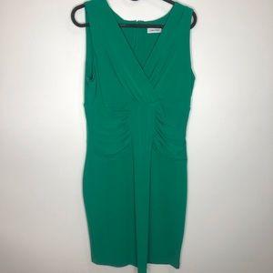 Calvin Klein Green Midi Dress SIze 6